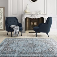 1232 Blue Distressed Oriental Area Rugs