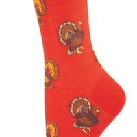 Turkeys 6111 Style Women's Novelty Crew Socks - Lycra/Nylon/Cotton