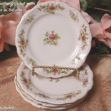 Johann, Haviland, Bavaria China Dinnerware Moss rose set 4 Bread Plate