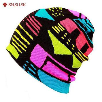 ac NOOW2 SN.SU.SK 2017 type knitting skating Winter SKULL CAP Knitted Ski Hat Beanie ( wool knitted ) Sports man woman gorros