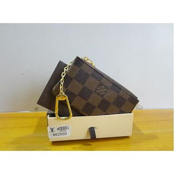 Tagre™ Louis Vuitton COIN PURSE BROWN COIN POUCH HOLDERS Day-First™
