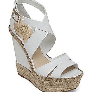 Vince Camuto Marcela Platform Wedge Espadrille Sandals - New Ivory