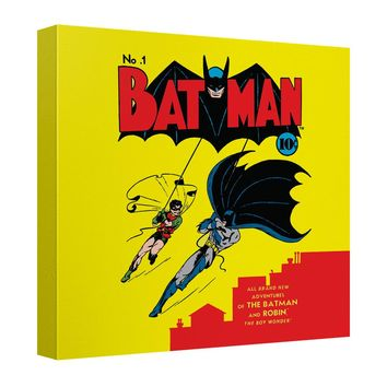 Batman - Cover No 1 Canvas Wall Art With Back Board