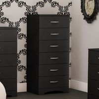 Black Majestic Tall 6-Drawer Dresser