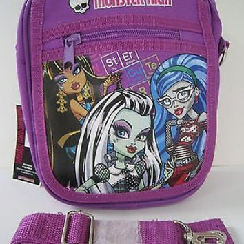 Monster High Ghoulishly Purple Messenger Bag Purse Goth Punk Psychobilly Bag-New