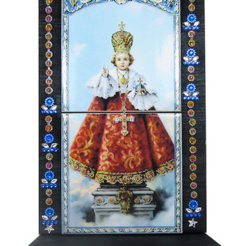 Infant Jesus of Prague - Child Jesus - OOAK catholic home altar - catholic shrine - religious altar - Catholic art - Infant of Prague
