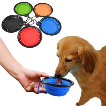 Collapsible Silicone Dogs Food Bowl