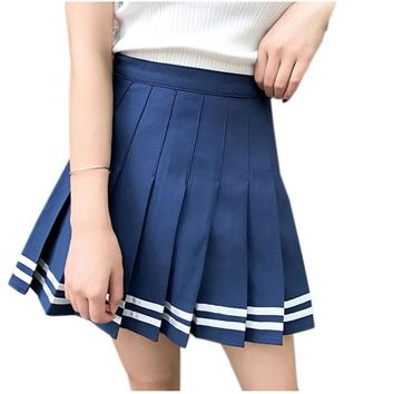 2016 New European and American vintage fashionable wild high waist Plaid Skirt Woman Saias