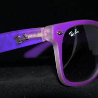 Rare Print Wayfarer Sunglasses Fancy Color Purple from Eye fashion