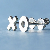 X O Kiss and Hug Earrings by mxmjewelry on Etsy