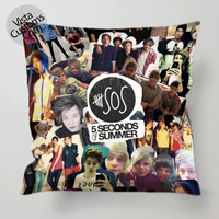 5 Seconds Of Summer Collage foto pillow case, cover ( 1 or 2 Side Print With Size 16, 18, 20, 26, 30, 36 inch )