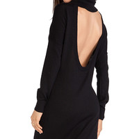 Haute Hippie Slouchy Collar Dress in Black