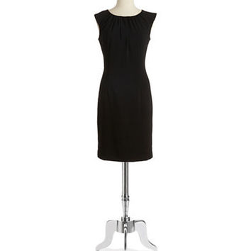 Chetta B Pleated Neck Dress
