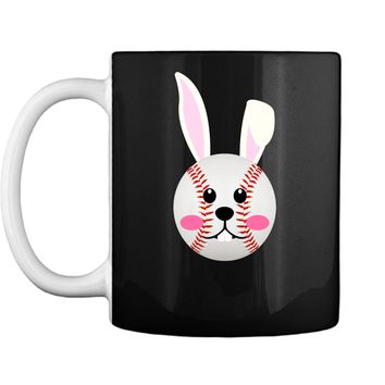 Funny Easter Bunny Face Rabbit Baseball Lovers Gift Shirt Mug