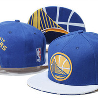 Golden State Warriors Logo Bay Bridge Bill Adidas Blue and Yellow Snap Back Hat