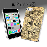 All disney heroes drawing iphone Case 4 & 4s,iphone 5, Samsung S3 S4, iphone 5c, Samsung S3 mini
