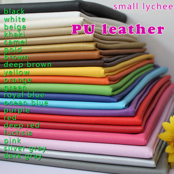 """Small Lychee PU Leather Faux Leather Fabric Sewing Artificial leather Upholstery Car interior 54"""" Sold By The Yard Free Shipping"""