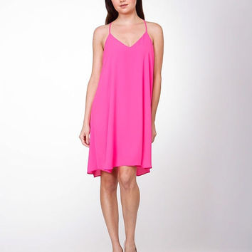 Hot Pink Racer Back Dress