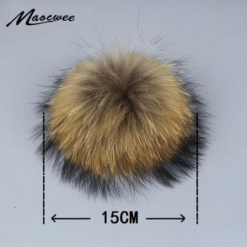 fb4675df977 Real Natural Raccoon Fox Fur Pompoms Fur Balls For Knitted Hat C