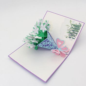 3D Pop Up Cards Valentine Lover Happy Birthday Anniversary Greeting Cards levert dropship 2jul6