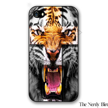Tiger cross iPhone 4, 5, 5C, 6 and 6 plus and Samsung Galaxy s3, s4, and s5 Phone Case