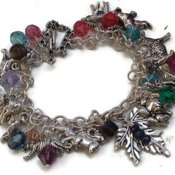 """Animal Lovers' Bracelet with Swarovski Crystals and Gemstones - 7.5"""" - 50% Donated to Pulse Orlando Victims Fund - BRC083"""