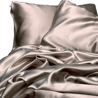 Luxury Champagne Latte Satin Sheet Set