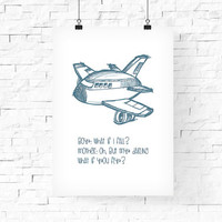 Cute Airplane quote Printable Art 8x10 - Instant Download Digital Art Print Kid's room decor, Baby's Wall Decor - Children's Room Wall Decor