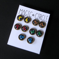 Sailor Moon Inspired Inner Senshi Earring Set