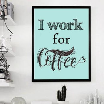 Cubicle decor - Office wall art - Coffee print - Office print - Office decor - Coffee printable - Kitchen wall art - Coffee decor