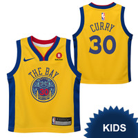 Golden State Warriors Nike Dri-FIT Kids Chinese Heritage 'The Bay' Stephen Curry #30 Replica Jersey - Gold