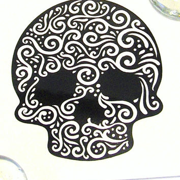 Sugar Skull Vinyl Decal - Car Decal - Vinyl Sticker - Skull Lovers - Mug Decal - Tumbler Decal - Laptop Decal - Car Vinyl - Home & Auto