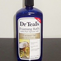 Dr Teals Foaming Bath With Pure Epsom Salt Coconut Oil 34 Oz | eBay