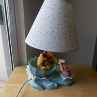 Disney Winnie the Pooh and Piglet Rainy Day Table Lamp