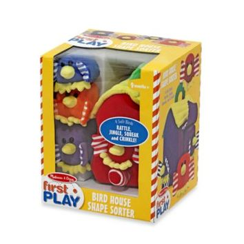 Melissa & Doug® Brightly Colored Peek-A-Boo Bird House Shape Sorter