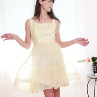 Vintage 1960s Dress  Miss Sunshine 2 Piece Yellow by DeLaBelle