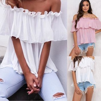 Flouncy Off The Shoulder Top