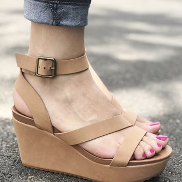Cameron Nude Wedge