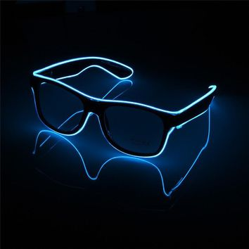Flashing EL Wire Led Glasses CE Certified Luminous Party Decorative Lighting Classic Gift Bright LED Light Up Party SunGlasses