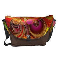 abstract 3d no. 1 created by Tutti Messenger Bag