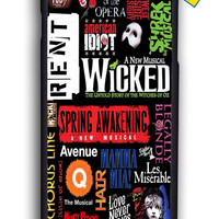 Broadway Musical Collage Poster for Iphone 6 Cover Rubber Case