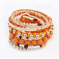 Multi Color Lovely Beads Bohemia Style All-matched Bracelets
