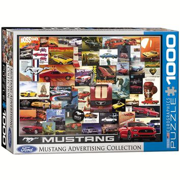 Ford Mustang Advertising Collection - 1000 Piece Jigsaw Puzzle