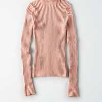 Don't Ask Why Long Sleeve Turtleneck, Ballet Pink