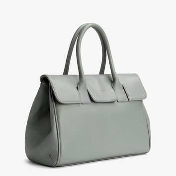 Matt and Nat Clarke Satchel Bag in Gravel Colored Vegan Leather