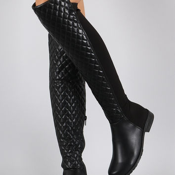 Bamboo Quilted Stretchy Over-The-Knee from rootofstyle