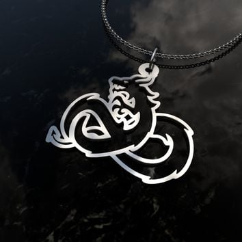 Dragon infinity symbol sterling silver cutout pendant necklace