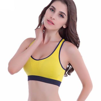 Women's Sports Bra Yoga Shirts Tops for Gym Running Fitness Yoga Bras for Woman ropa deportiva
