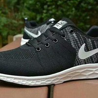 """""""Nike"""" Men Casual Fashion Multicolor Flyknit Sneakers Running Shoes"""