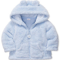 Carter's Baby Jacket, Baby Boys Sherpa Zip Front Hooded Jacket - Kids Baby Boy (0-24 months) - Macy's